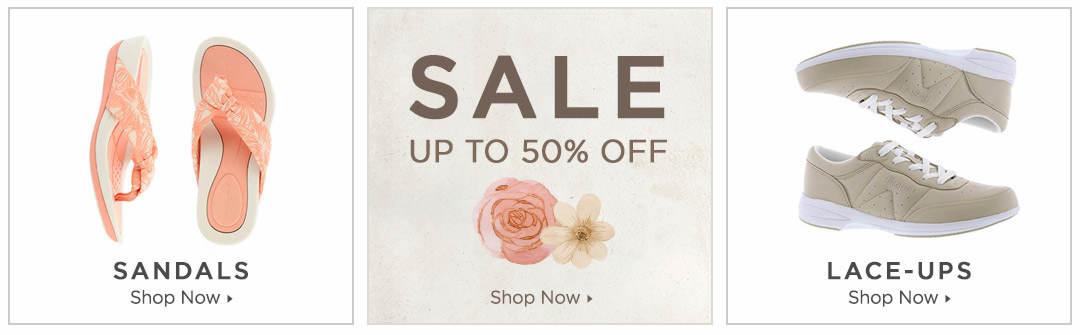 Shop Sandals, Lace-Ups and Sale Items