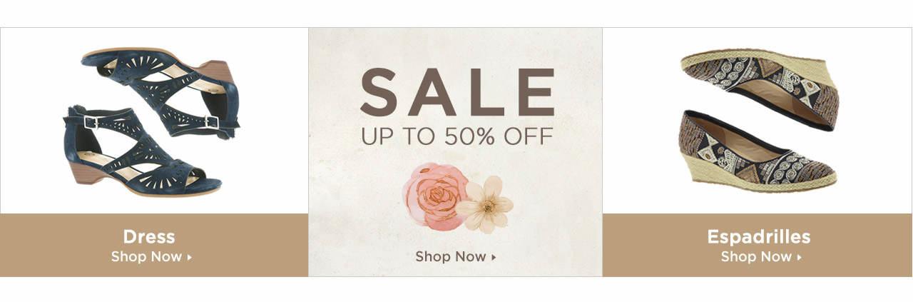 Shop Dress Sandals, Espadrilles and Sandals on Sale