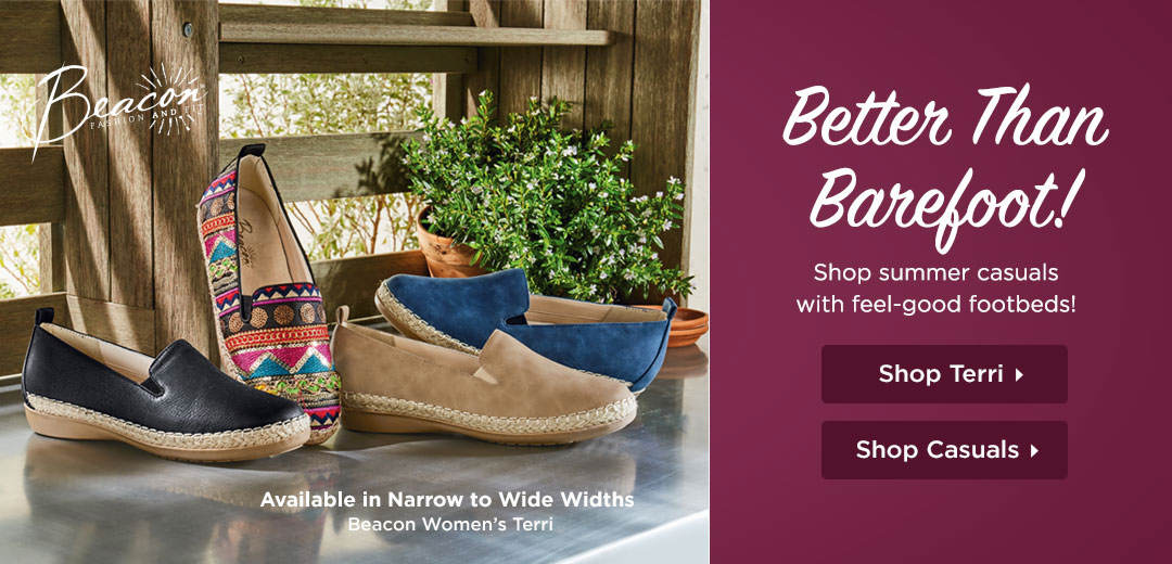 Better Than Barefoot! Shop Summer Casuals With Feel-Good Footbeds!