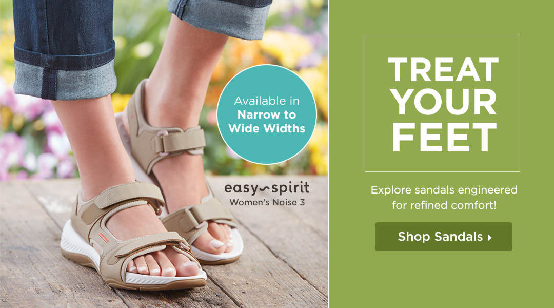 Treat Your Feet! Explore Sandals Engineered for Refined Comfort! Shop Now