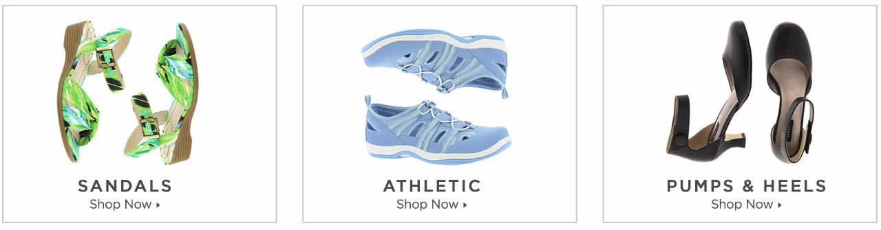 Shop Sandals, Athletics and Pumps