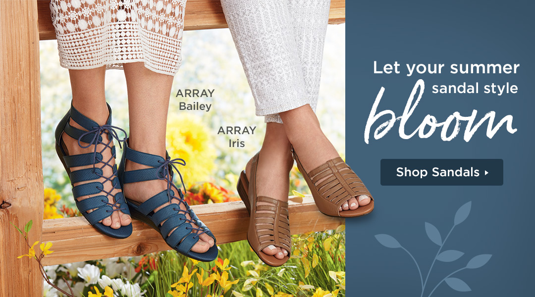 Let Your Summer Style bloom! Shop Sandals