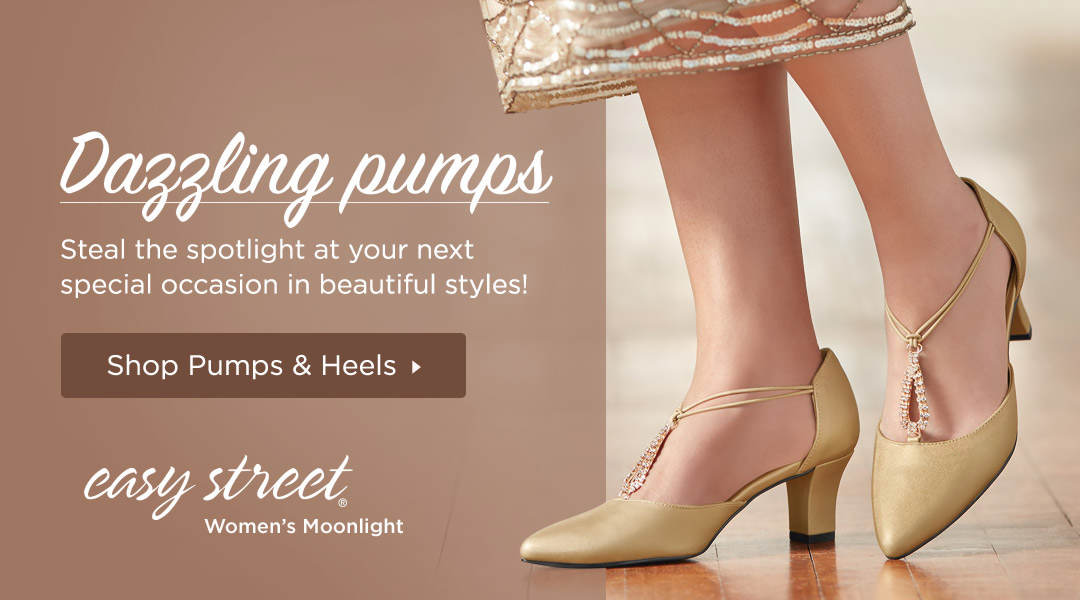 Steal the spotlight at your next special occasion in dazzling pumps! Shop Pumps and Heels