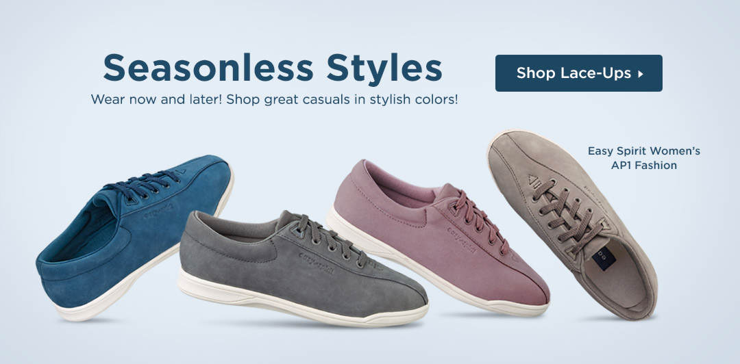 Seasonless Styles - Wear now and later! Shop great casual lace-ups in stylish colors