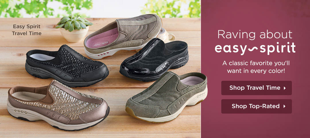 Raving About The Easy Spirit Travel Time - A classic favorite you'll want in every color! Shop Now