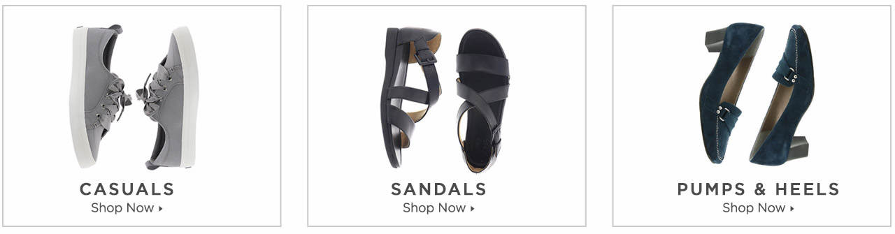 Shop Casuals, Sandals and Pumps