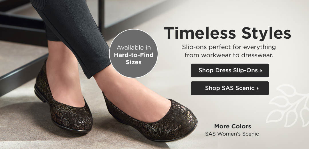 Timeless Styles - Slip-ons perfect for everything from workwear to dresswear! Shop Dress Slip-Ons
