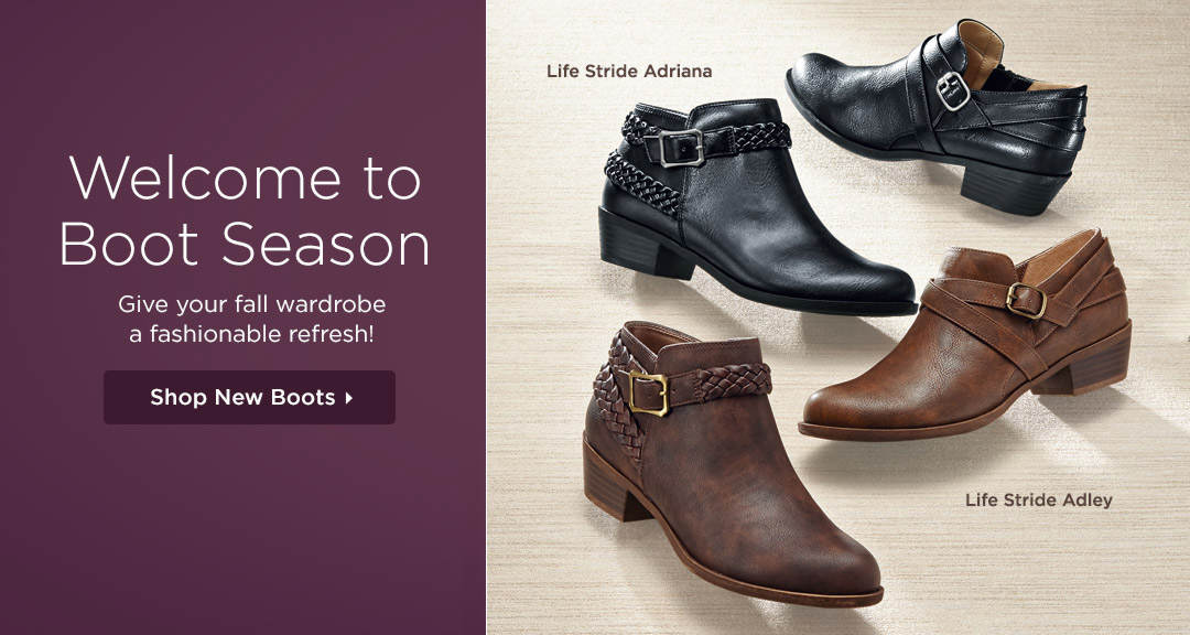 Welcome to Boot Season - Give your fall wardrobe a fashionable refresh! Shop New Boots