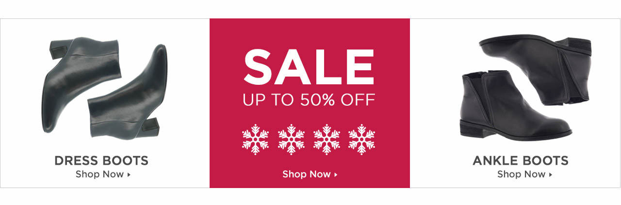 Shop Dress Boots, Ankle Boots and Boots on Sale