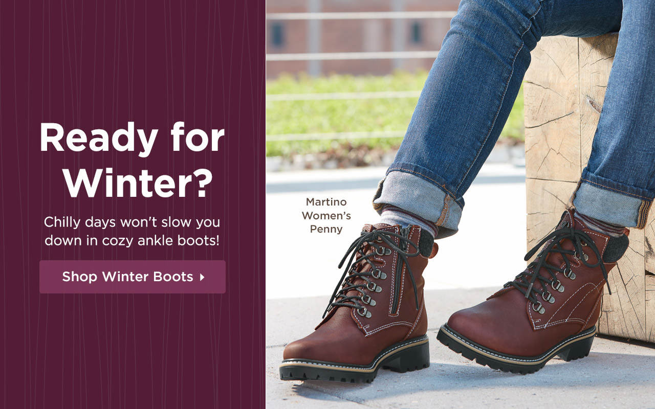 Ready for Winter? Chilly days won't slow you down in cozy winter boots! Shop Now