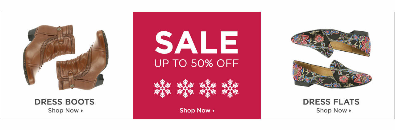 Shop Dress Boots, Dress Flats and Dress on Sale