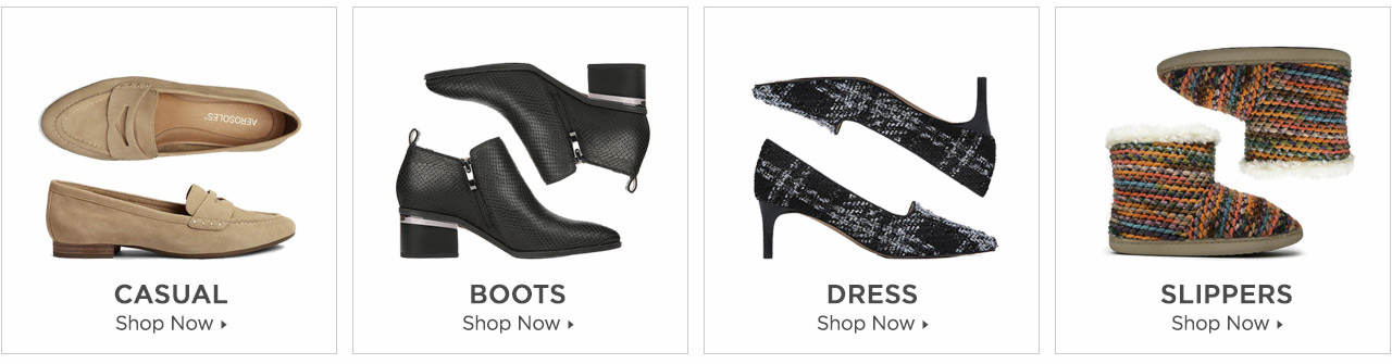 Shop Boots, Casuals, Dress and Slippers