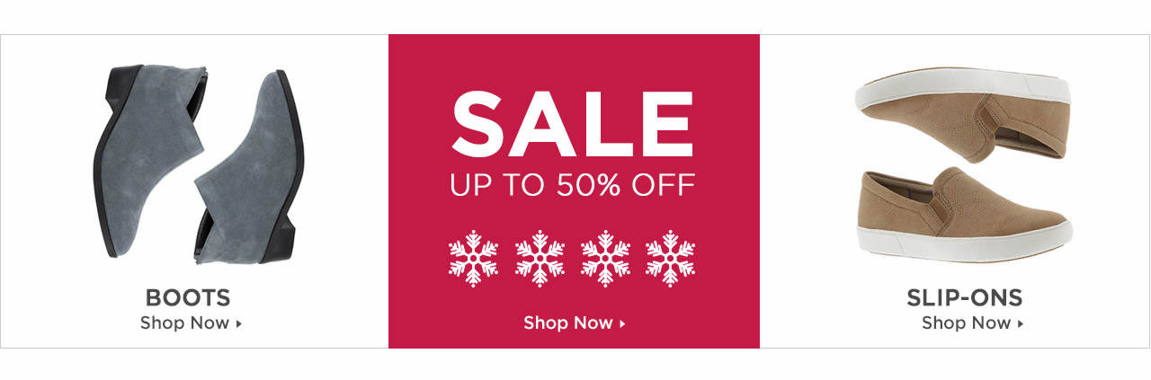 Shop Boots, Slip-Ons and Shoes on Sale