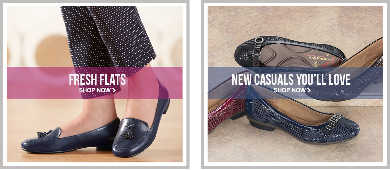 Shop Fresh Flats and New Casual Styles.