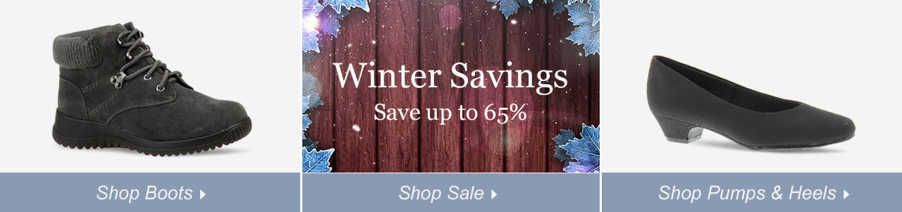 So many ways to shop! Shop Boots, dress and explore savings of up to 65% on our sale tab!