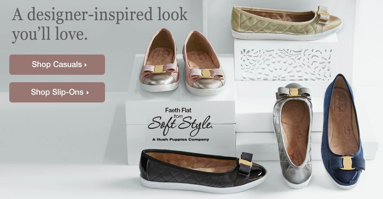The Faeth Flat from Soft Style has a designer-inspired look you'll love.