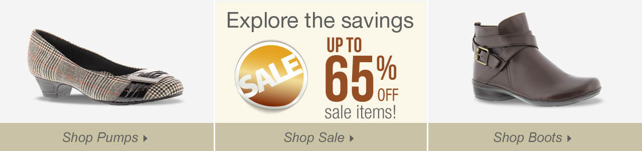 So many ways to shop! Espadrilles, sandals and explore savings of up to 65% on our sale tab!
