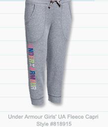 Under Armour Girls' UA Favorite Fleece Capri