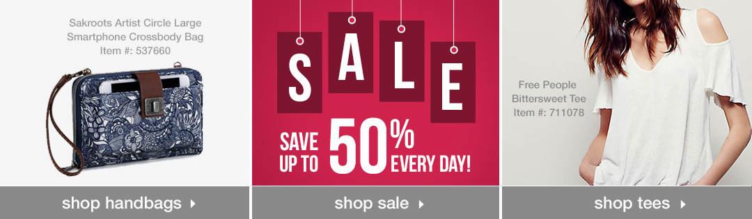 Shop Women's Handbags, Sale and Tees