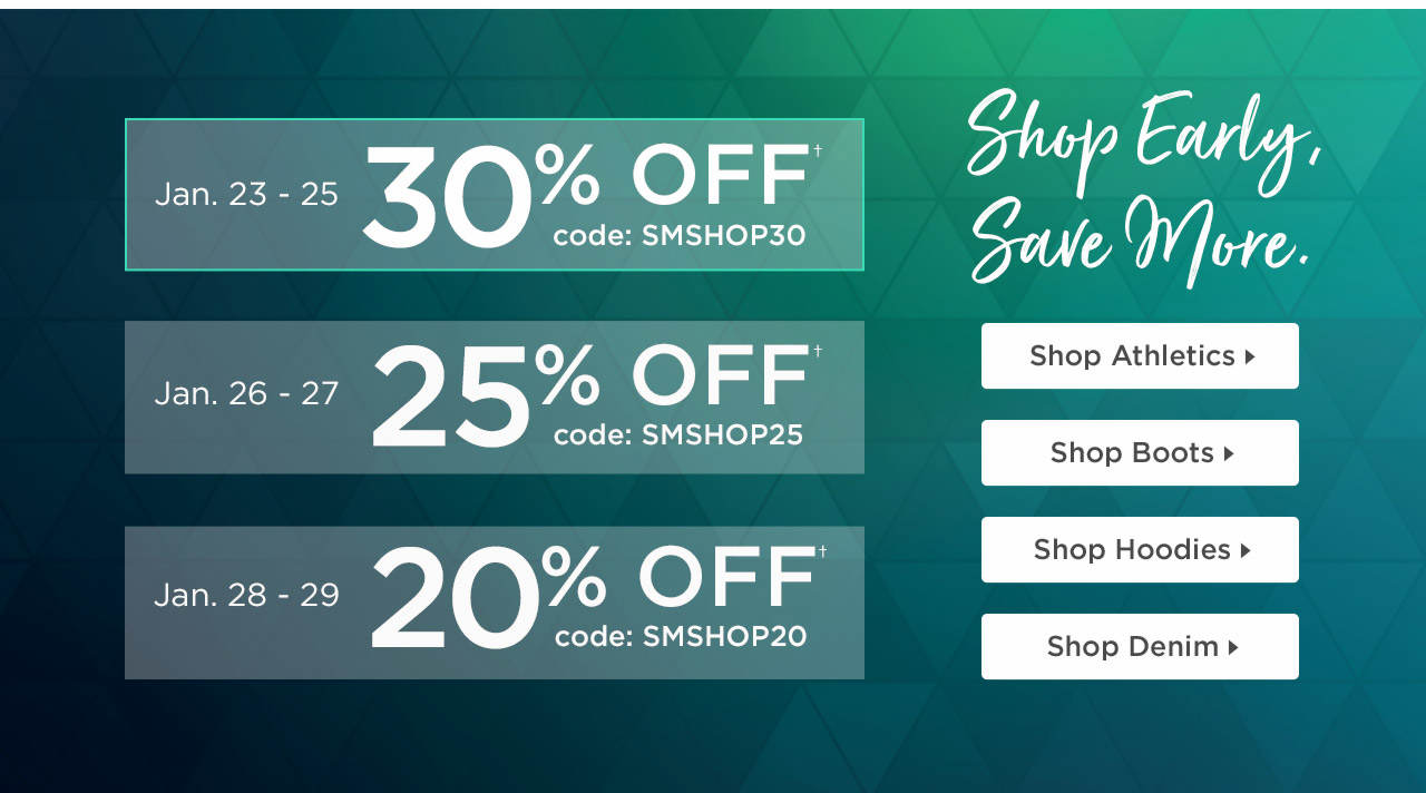 30% OFF With Code: SMSHOP30