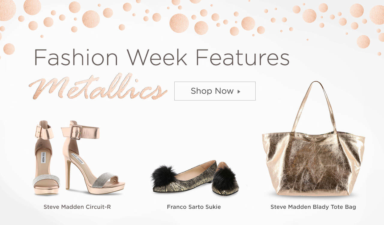 Fashion Week Features Metallics - Shop Now