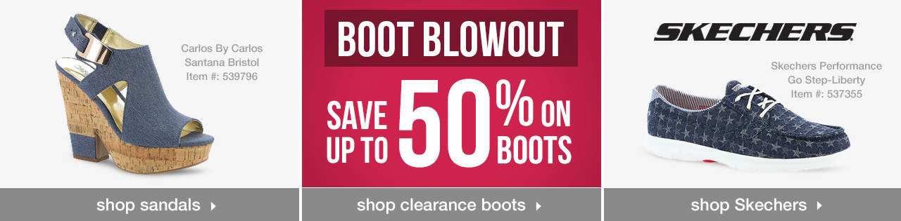 Shop Sandals, Boots on Clearance and Skechers