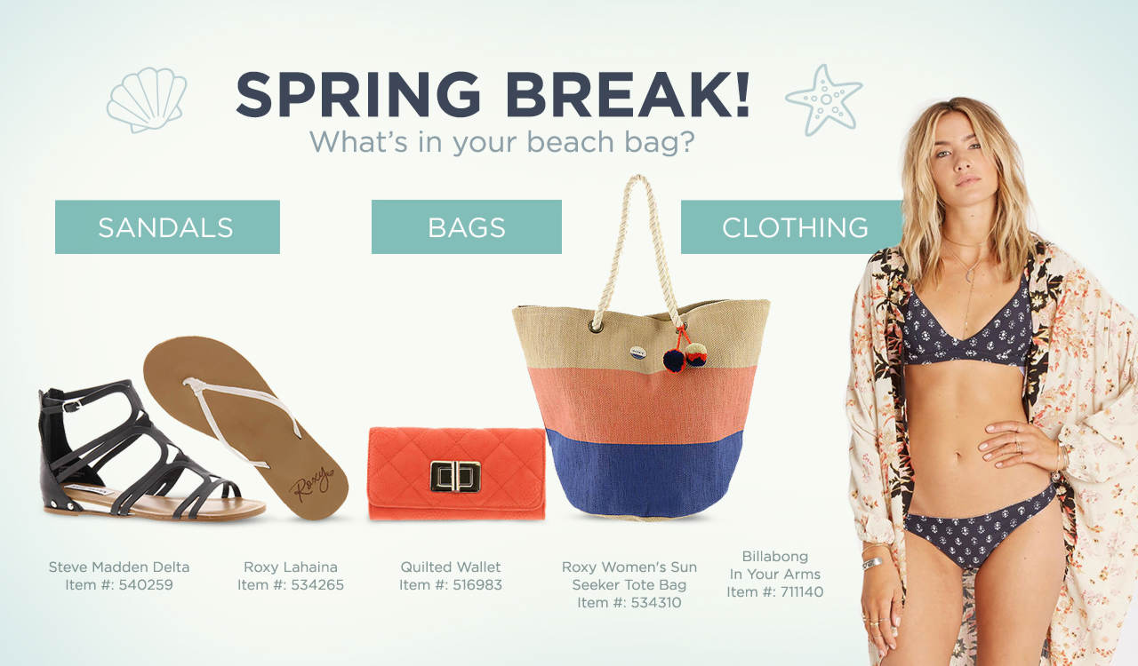 Shop Sandals, Bags and Clothing