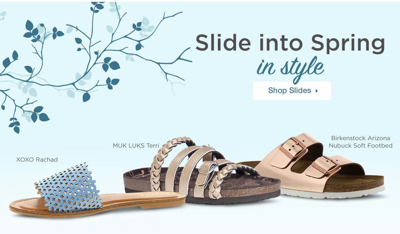 Slide Into Spring In Style - Shop Slides
