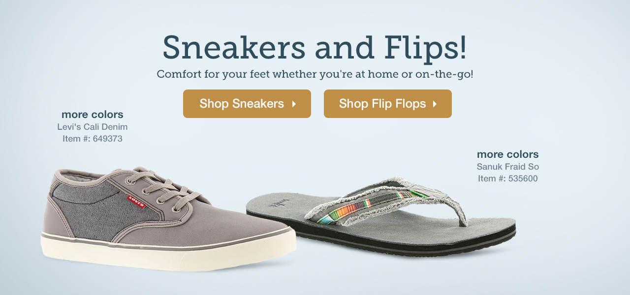 Shop Men's Sneakers and Flip Flops