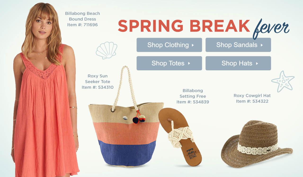 Shop Women's Spring Break Essentials