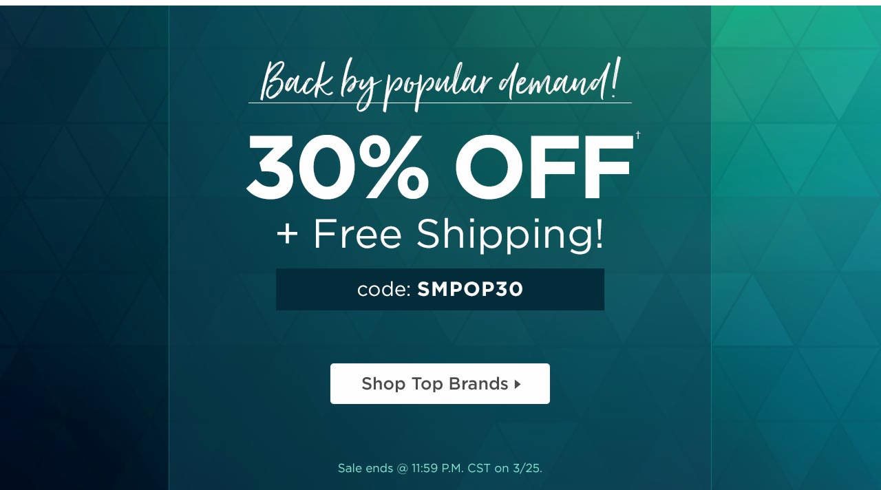 30% Off Back By Popular Demand!