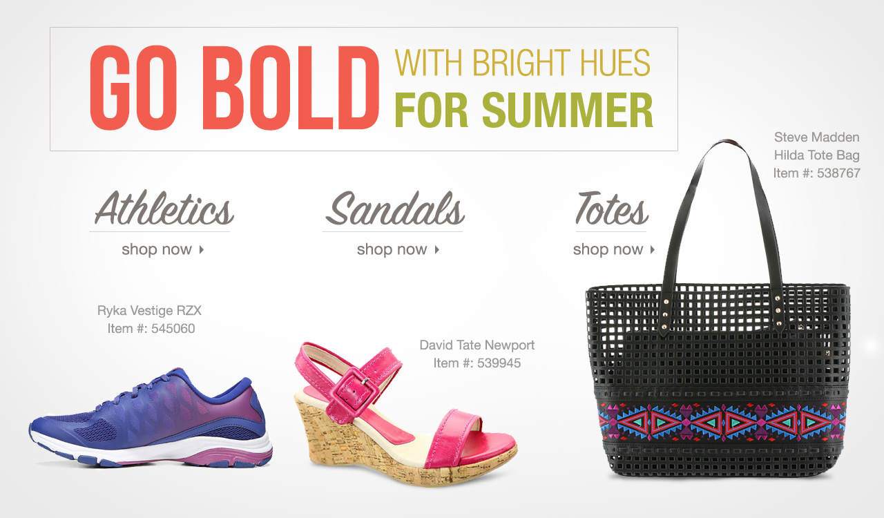 Shop Women's Athletics, Sandals and Tote Bags