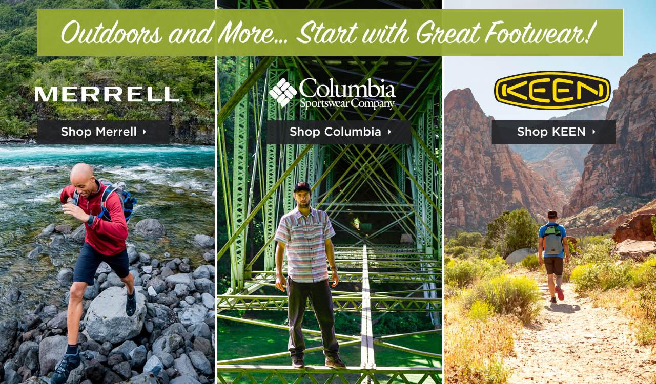 Shop Men's Merrell, Columbia and KEEN