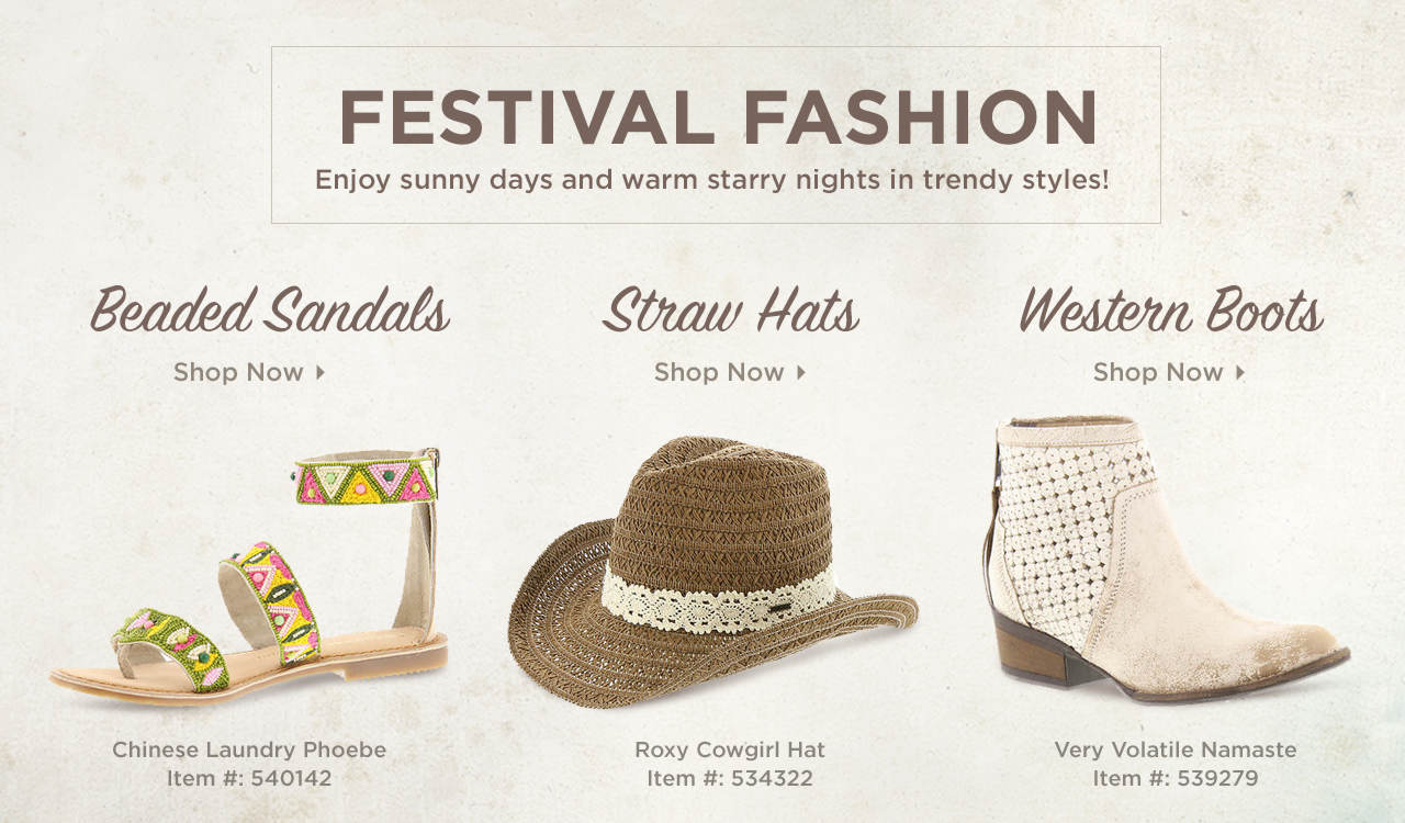 Shop Beaded Sandals, Straw Hats and Western Boots