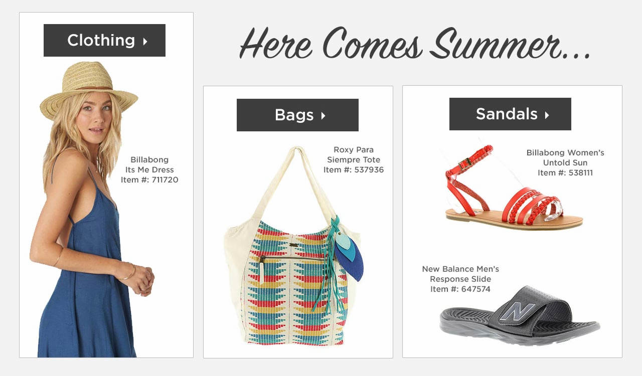 Shop Clothing, Bags and Sandals