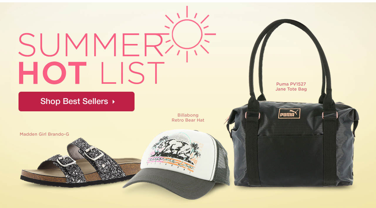 Summer Hot List - Shop Best Sellers