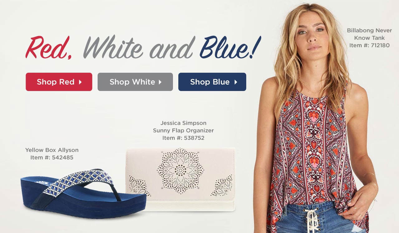 Shop Red, White and Blue Styles