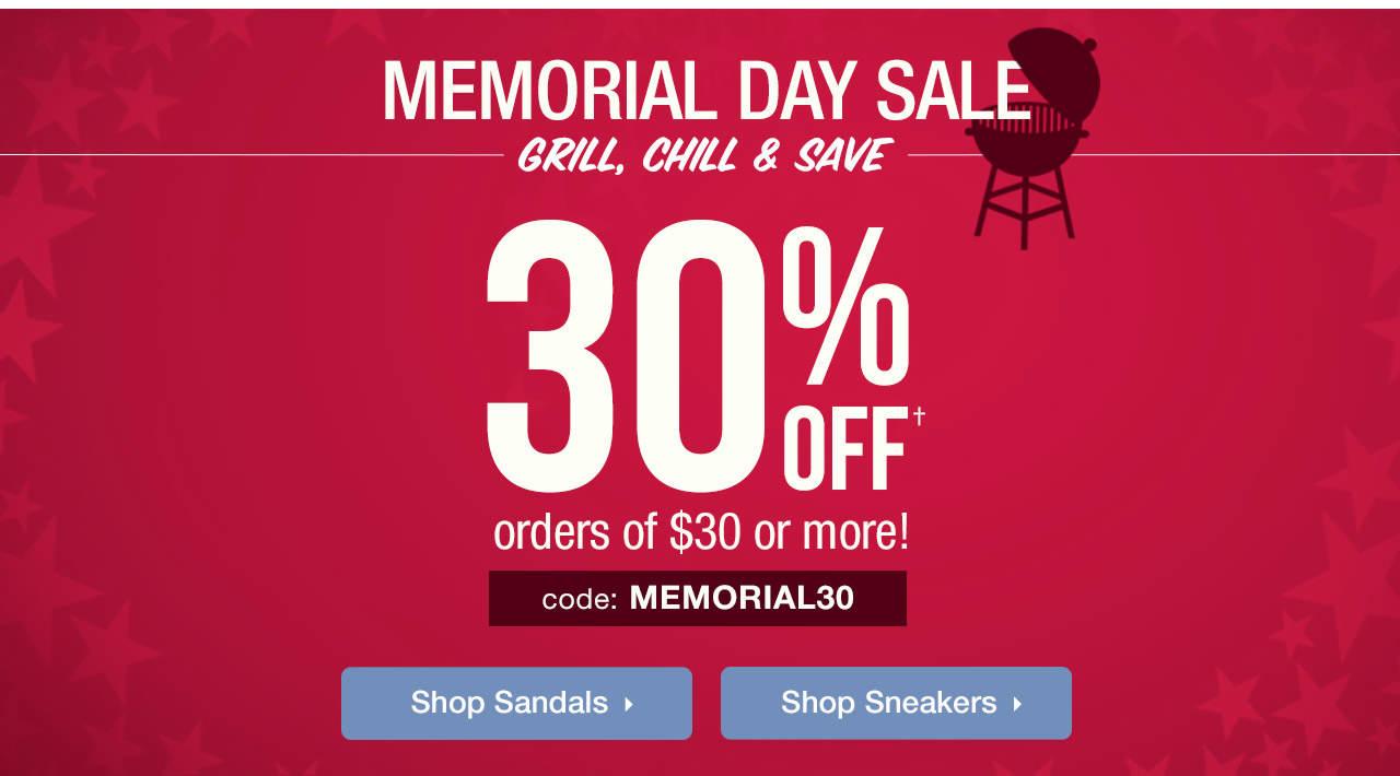 Memorial Day Savings - 30% Off Order Of $30+ With Code: MEMORIAL30