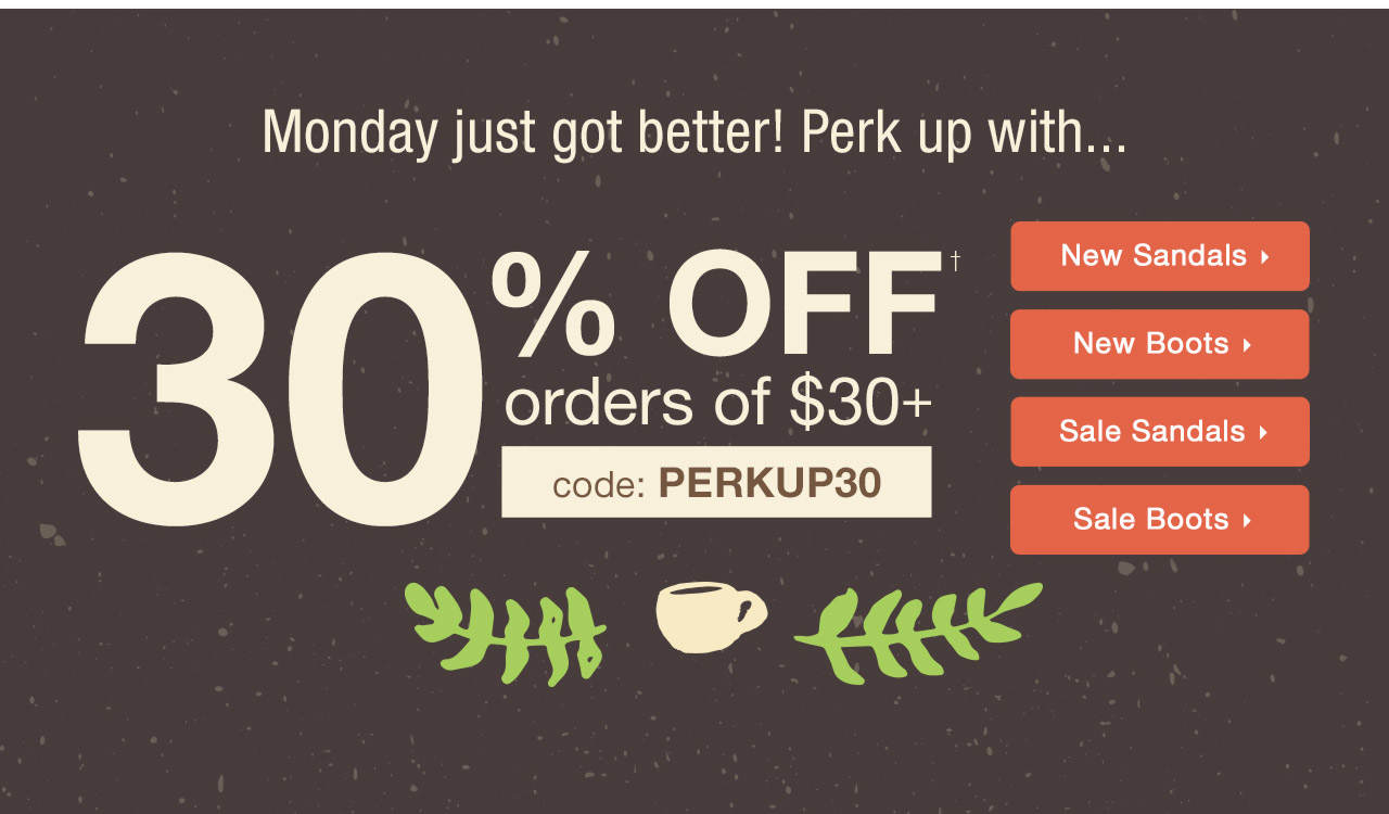30% Off Order Of $30+ With Code: PERKUP30