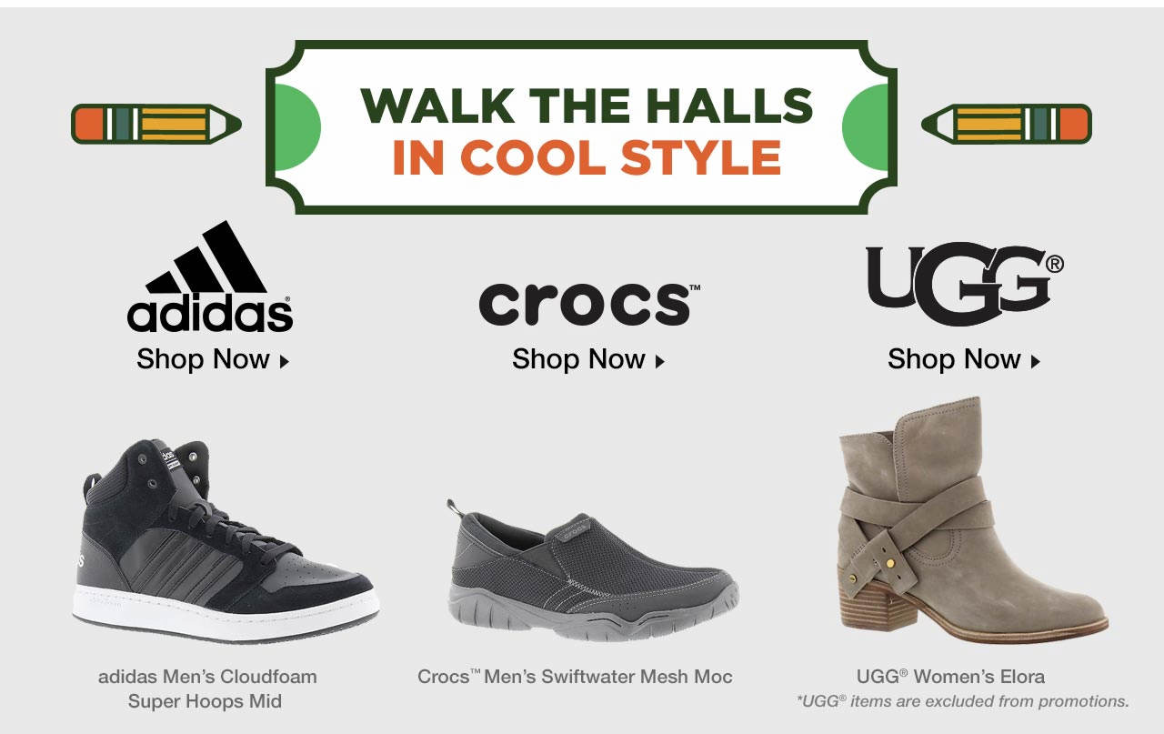 Shop adidas, Crocs™ and UGG®