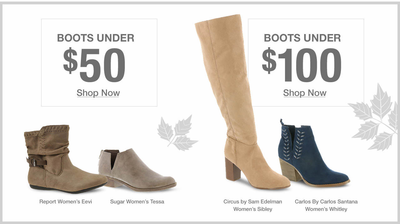 Shop Boots Under $50 and $100