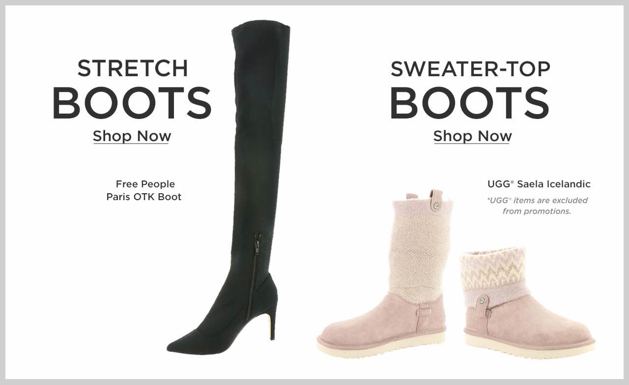 Shop Women's Stretch and Sweater-Top Boots