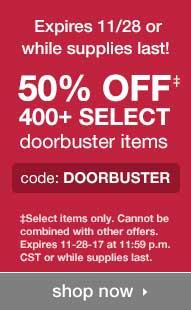50% Off Doorbusters