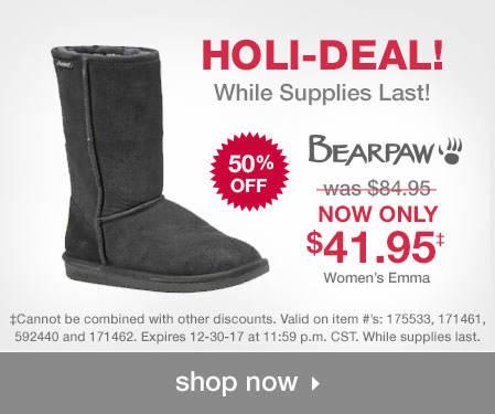 Shop BEARPAW Holi-Deals