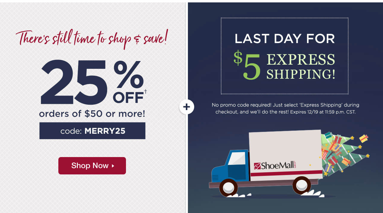 25% Off $50+ With Code: MERRY25 And $5 Express Shipping Ends Tonight @ 11:59 p.m. CST