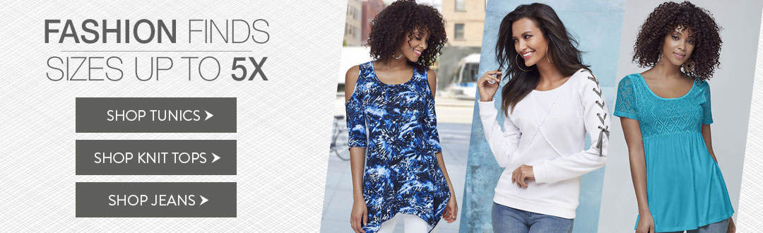 Great fashion finds with plus sizes up to 5X from K. Jordan.