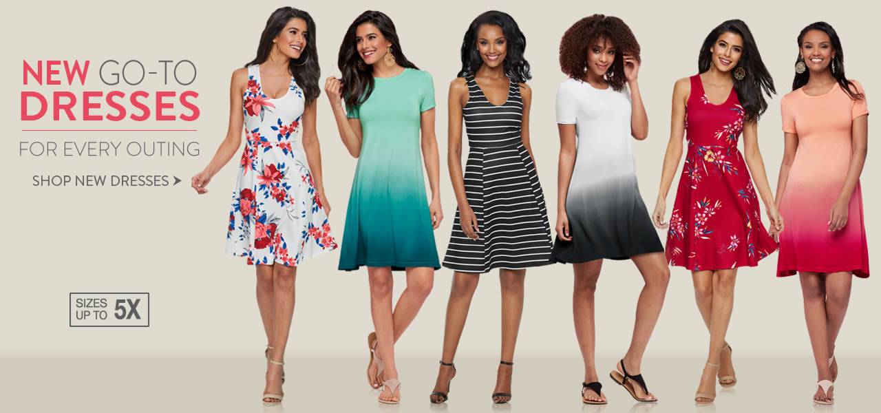 Shop new go-to dresses for every outing.