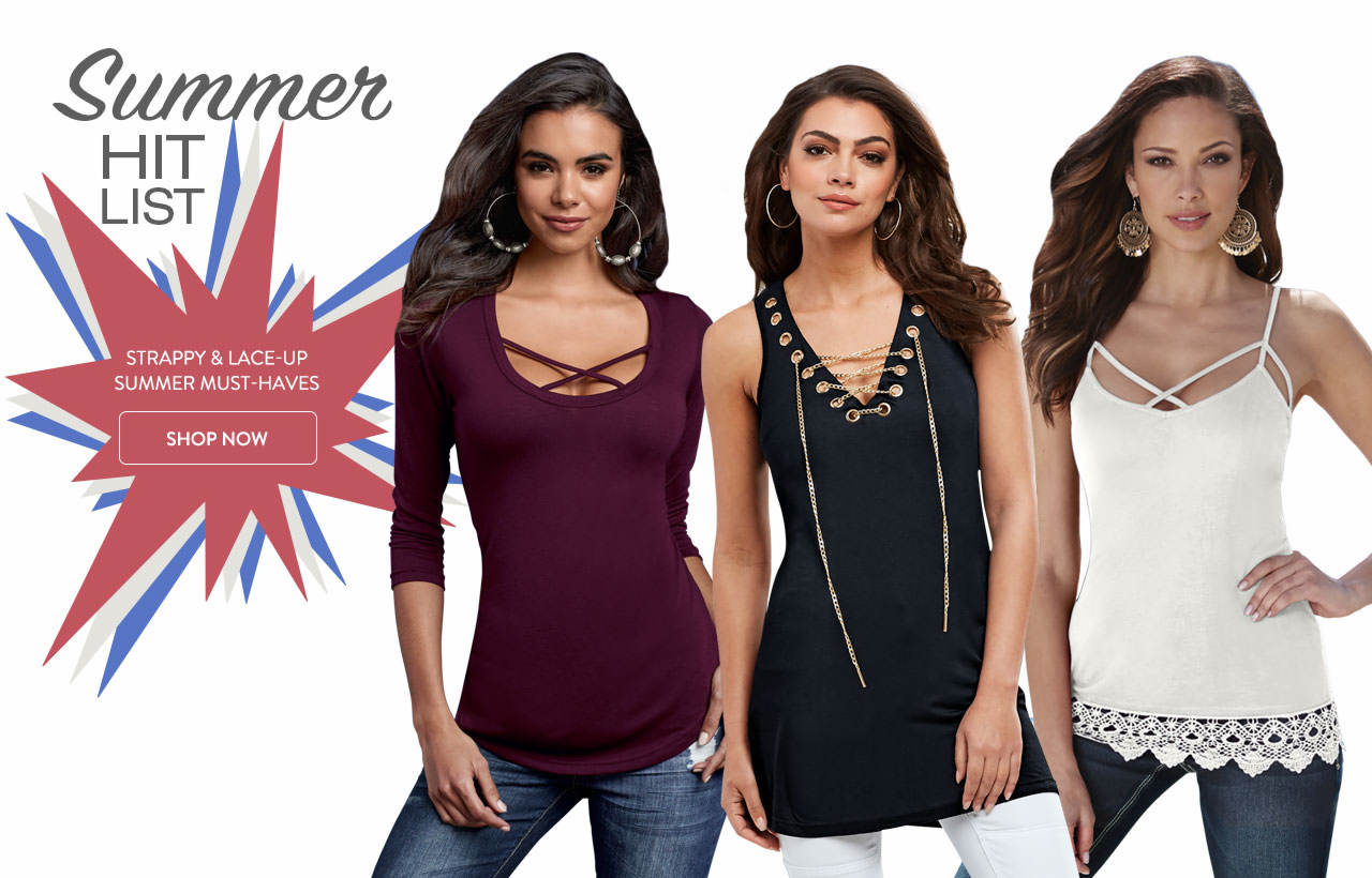 Here's your summer hit list. Strappy and lace-up must-haves. Shop now.