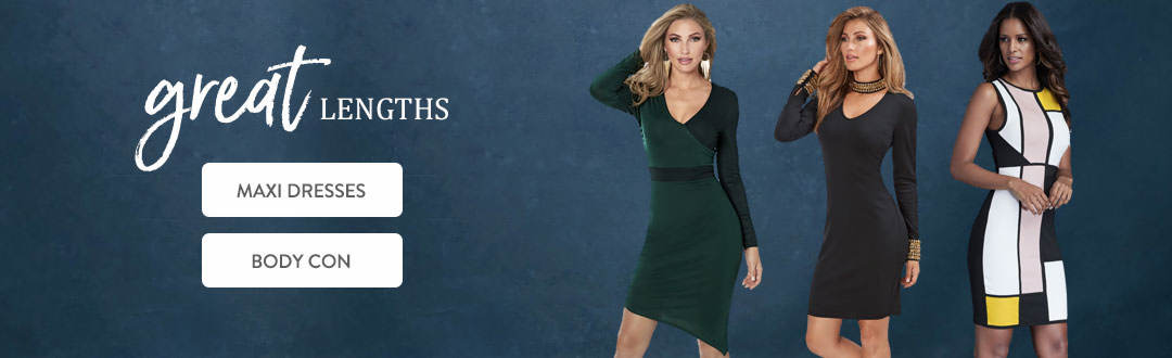 Go to great lengths in dresses from K. Jordan.