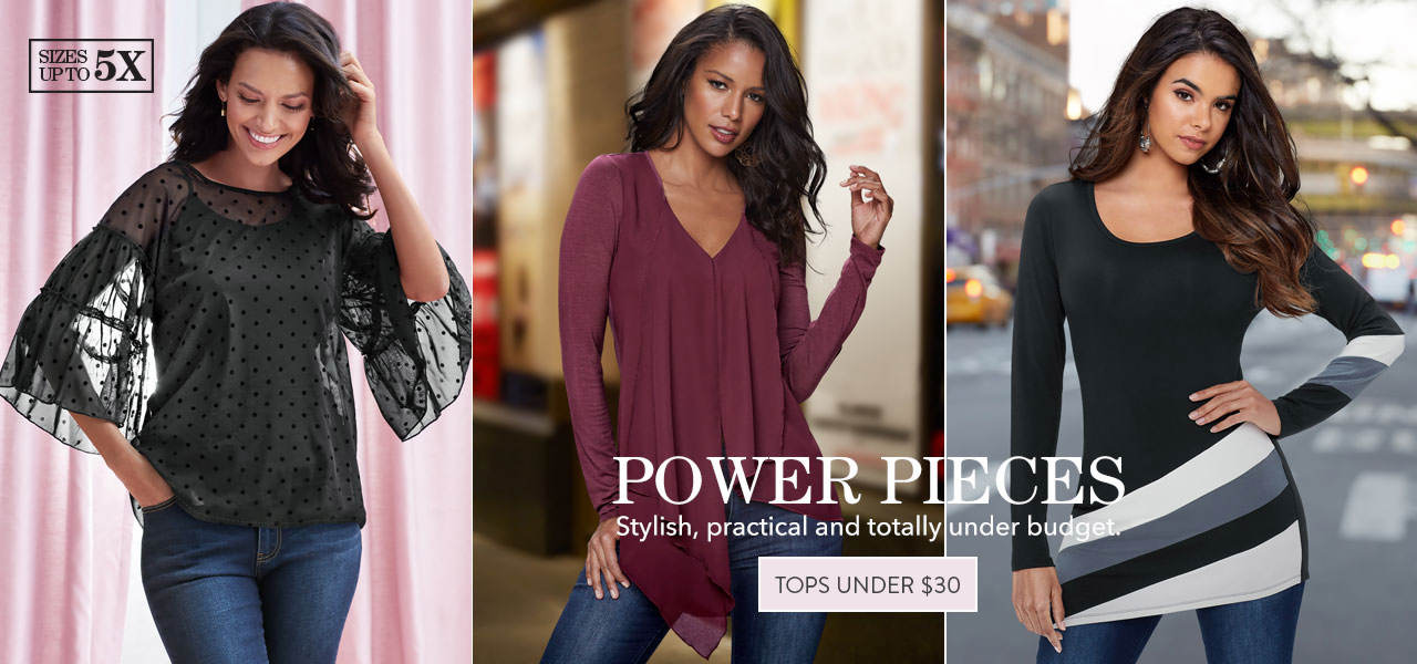Shop stylish, practical and totally under budget tops? Shop tops priced under $30 now.